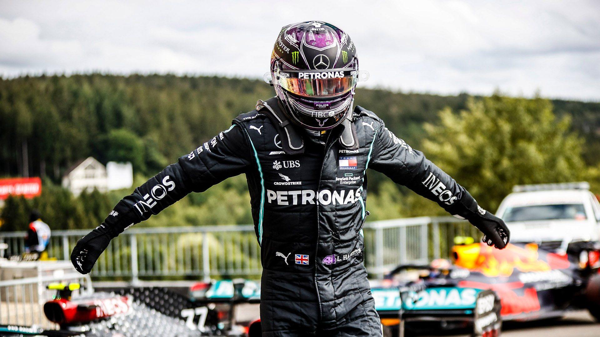 Lewis Hamilton vuela en la clasificación del Gran Premio de Bélgica