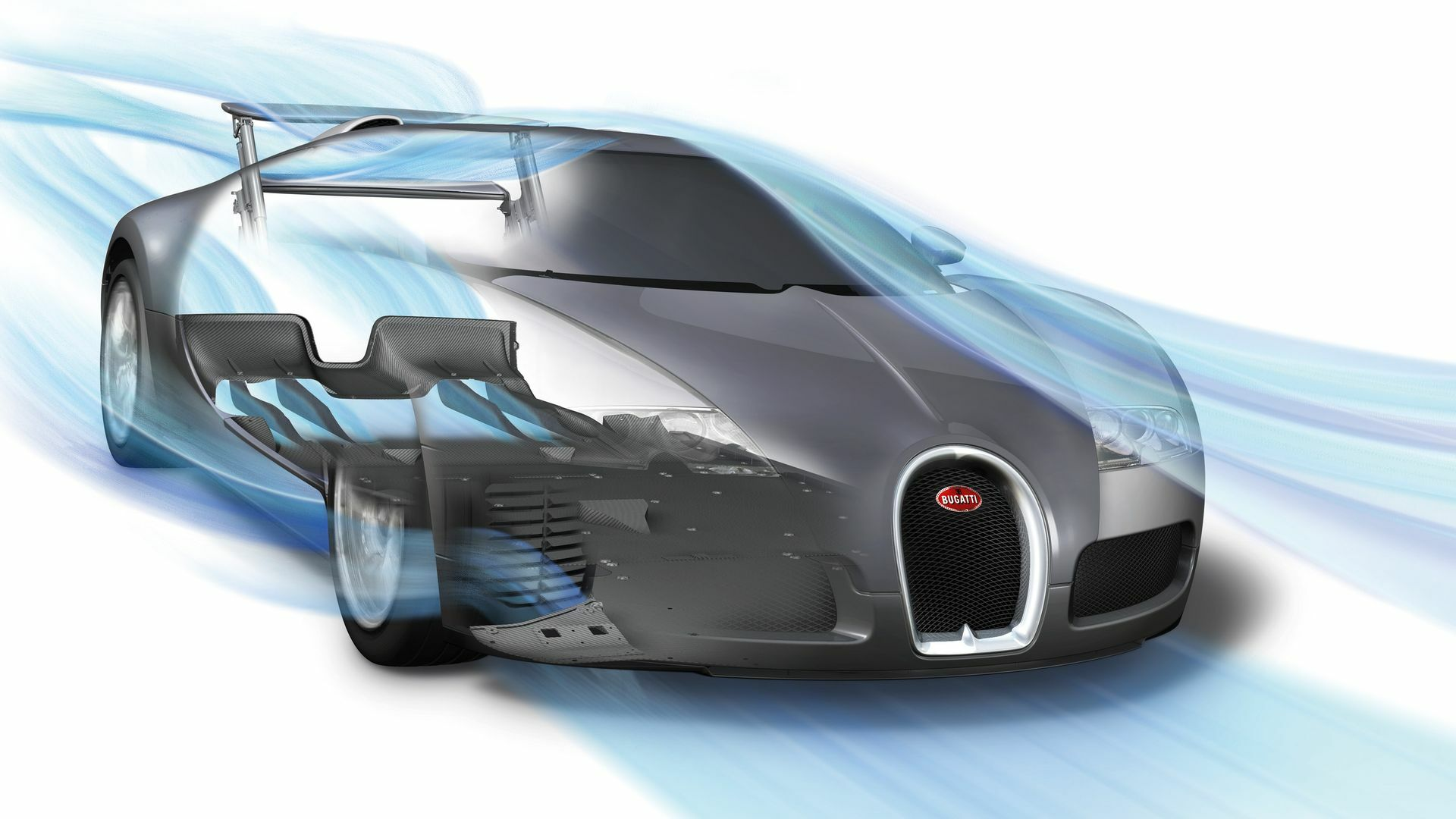 09 Bugatti Veyron aerodynamics
