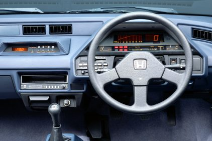 Honda Ballade Sports CR X 1983 interior