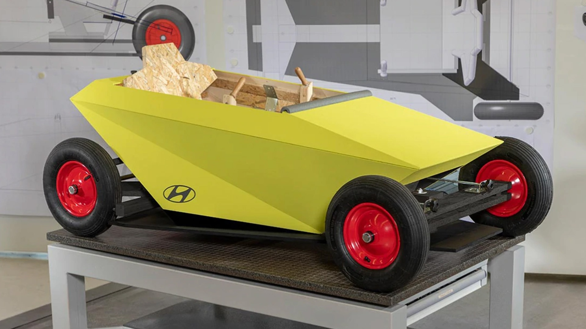 Hyundai Soapbox, un coche para niños que puedes construir en casa