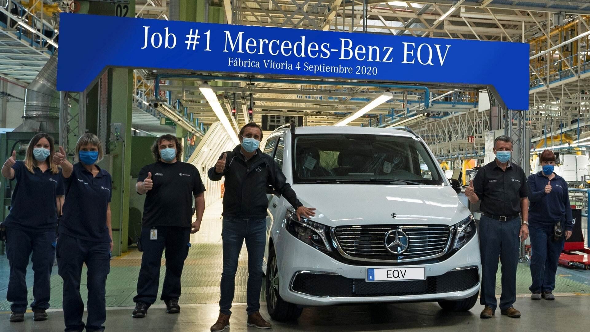 El monovolumen eléctrico Mercedes-Benz EQV entró en producción en Vitoria