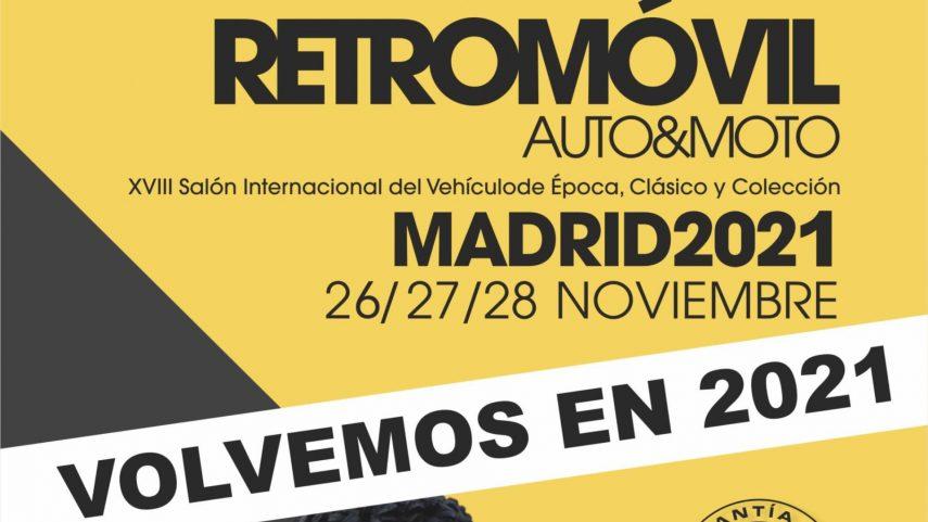 Retromóvil Madrid no se celebrará en 2020, se aplaza a noviembre de 2021