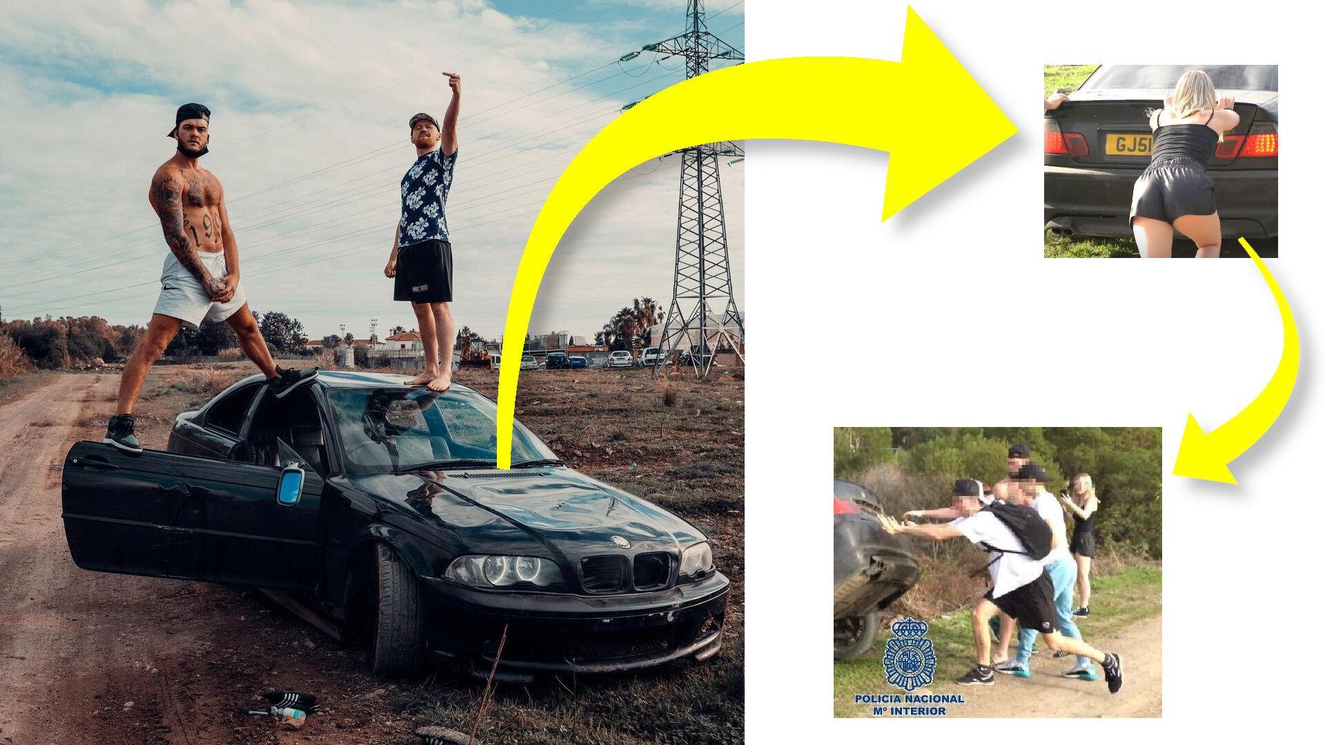 Detienen a Ryan Taylor, un influencer inglés que tiró un BMW a un río marbellí, grabó vídeo, y subió a la red