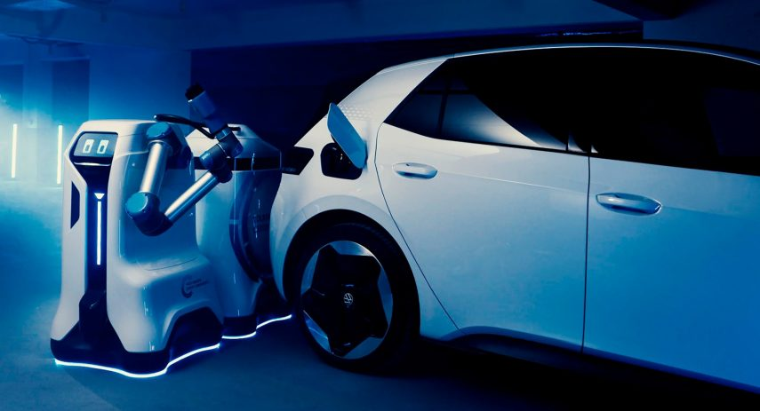 Volkswagen robot de carga móvil coche eléctrico (5)