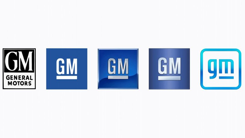 General Motors GM Logo Evolucion