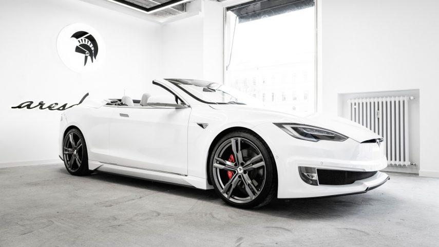 El Tesla Model S Cabrio es una realidad gracias a Ares Design