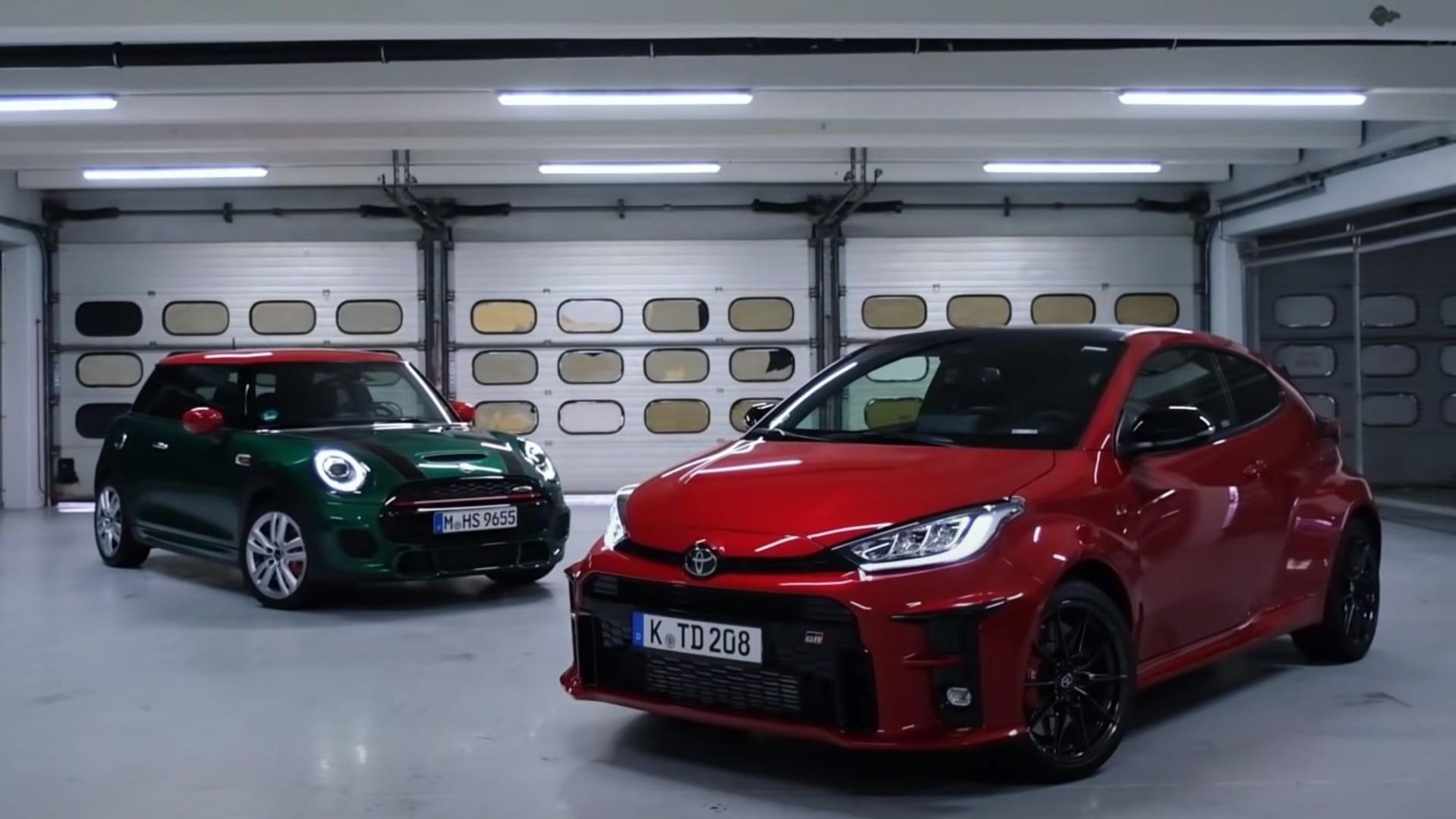 El Toyota GR Yaris se enfrenta al MINI John Cooper Works
