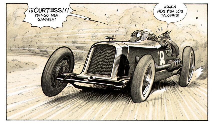 """""""Curtiss Hill"""", un viaje a las carreras clásicas de Gran Premio en forma de cómic"""