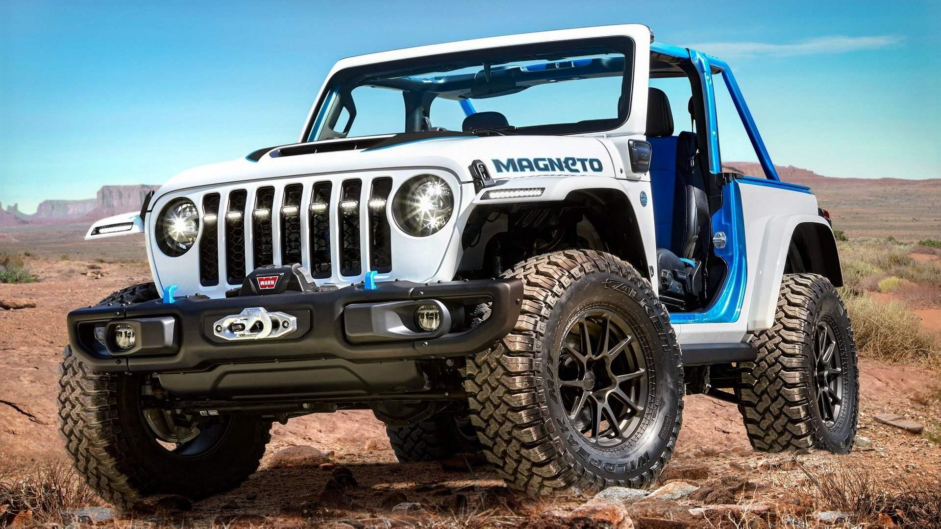 Jeep Wrangler Magneto Concept, un todoterreno eléctrico y manual
