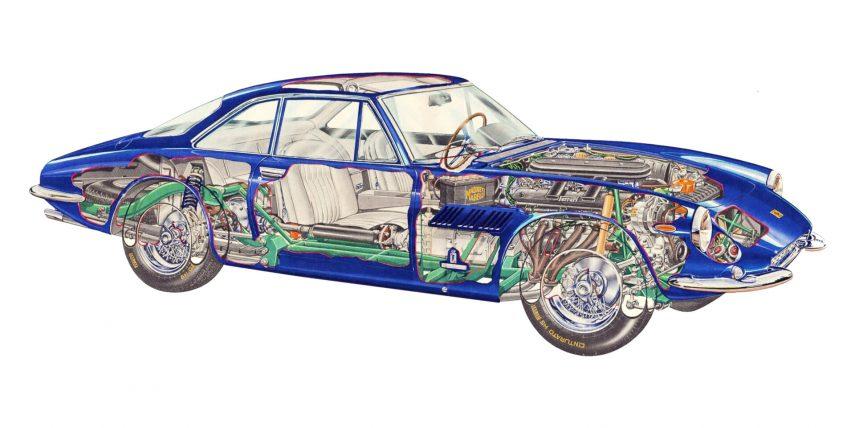 Ferrari 500 Superfast esquema
