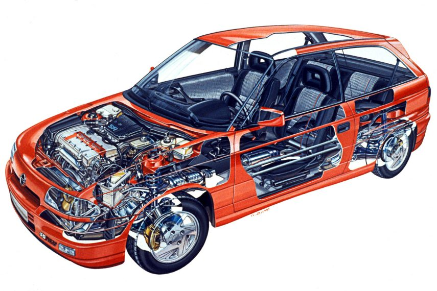 Opel Astra 3p GSi 16v esquema
