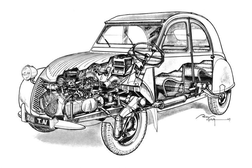 Citroen 2CV 1949 esquema