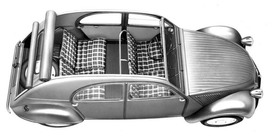 Citroen 2CV 1949 interior