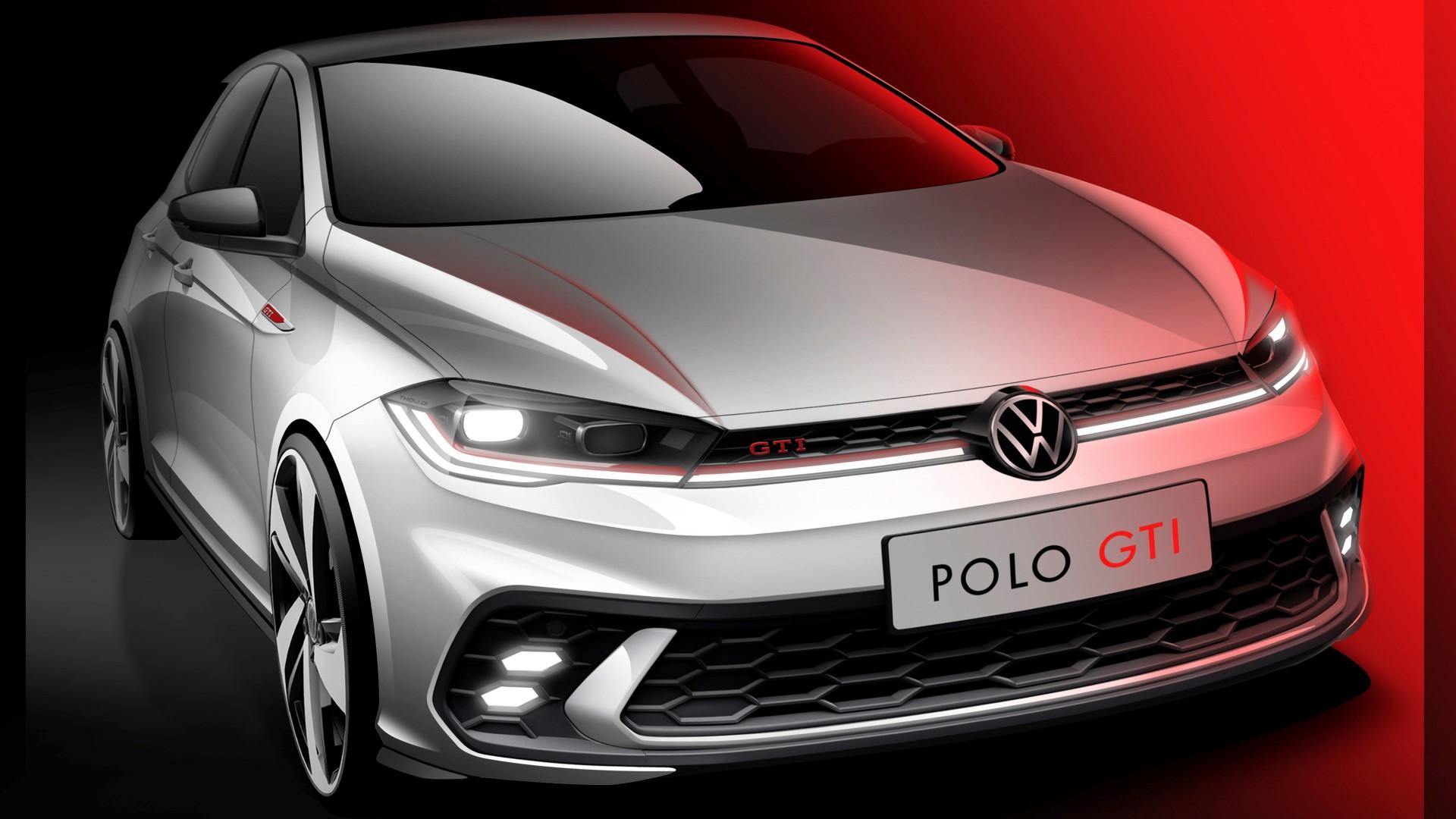 El Volkswagen Polo GTI se muestra tímidamente en estos bocetos