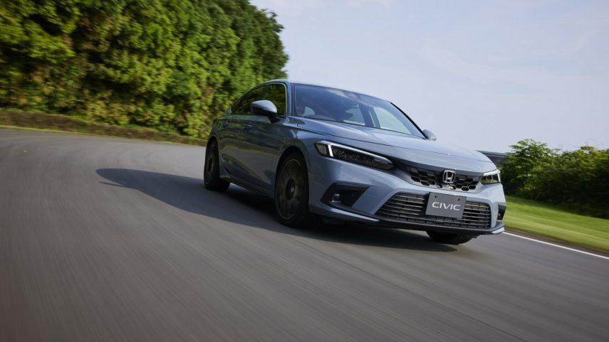 Honda Civic 2022, desvelada su carrocería de cinco puertas