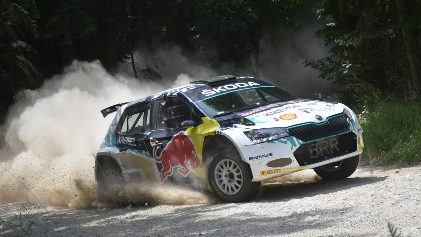 Skoda Fabia RE X1 Kreisel Coche de Rally Electrico (1)