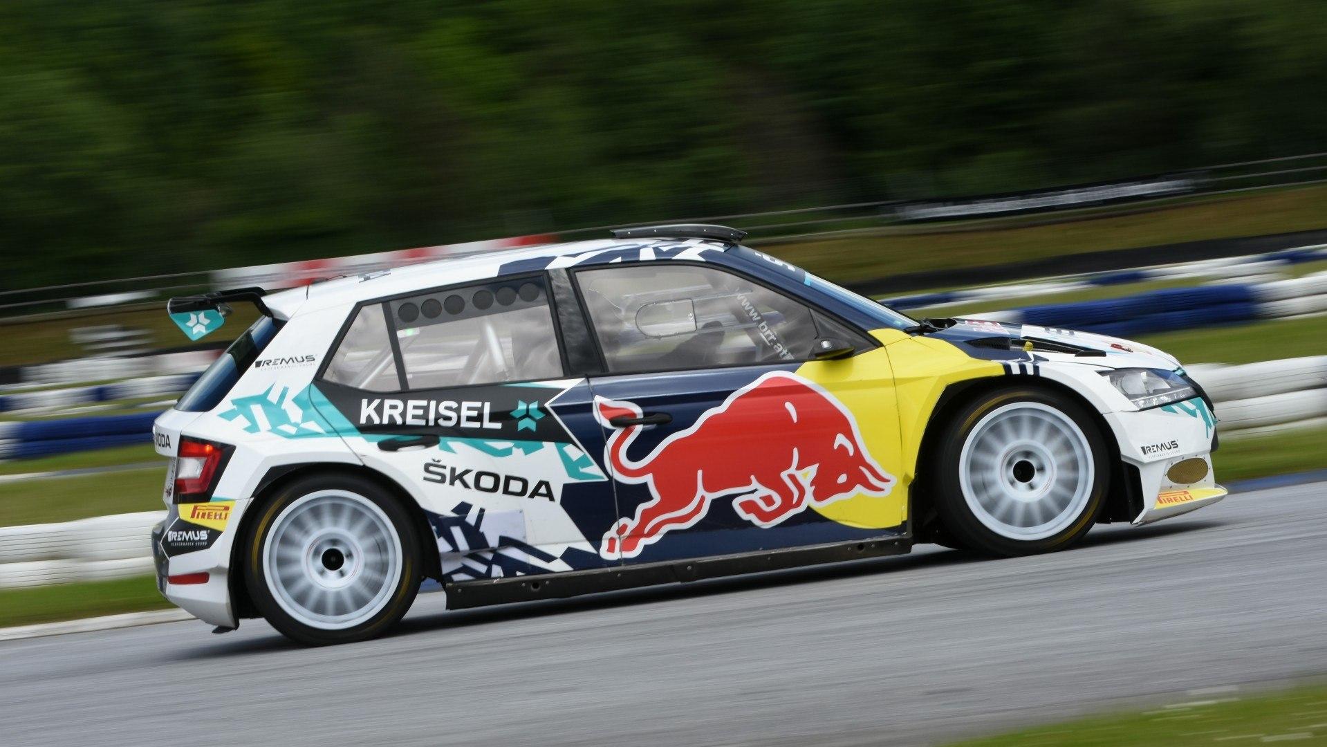 Skoda Fabia RE X1 Kreisel Coche de Rally Electrico (3)